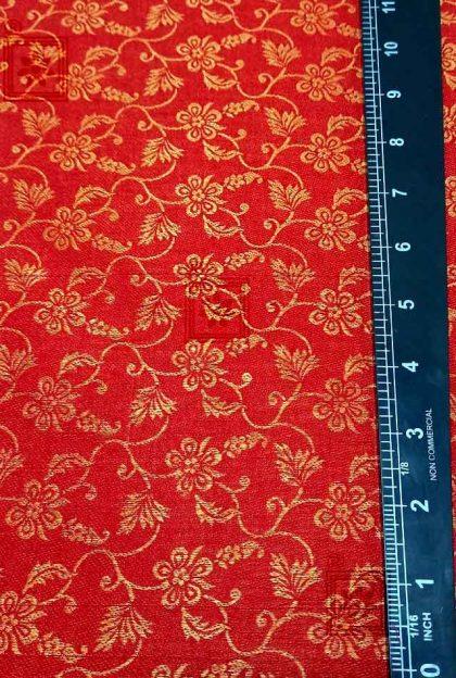 Floral Goden Designer Blouse Material