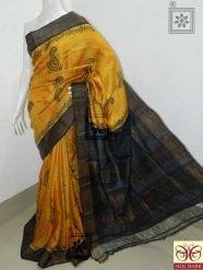 Zari Border Tussar Silk Saree