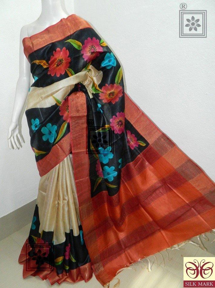 Zari Tussar Silk Sarees