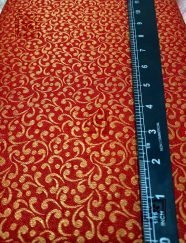 Red Wedding Blouse Designer Running Fabric
